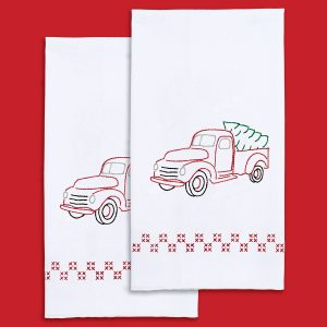 JDNA Christmas Truck Hand Towels sku 320879