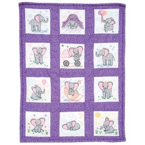 product id 300924 Elephants Nursery Quilt Blocks