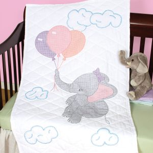 product id 4060917 Elephant crib quilt top