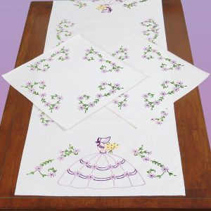 Colonial Lady Scarf & Doily set 448-827