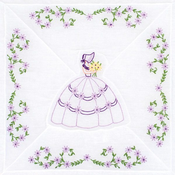 Colonial Lady 18″ Quilt Blocks