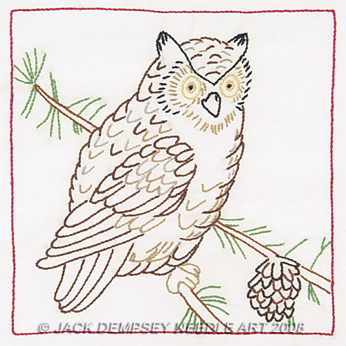 "Owl  9"" Quilt Blocks"