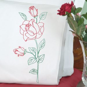 product id 1600134 Long Stem Rose Perle Edge Pillowcases