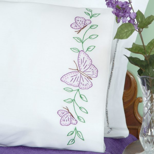 product id 1600307 Butterflies Perle Edge Pillowcases