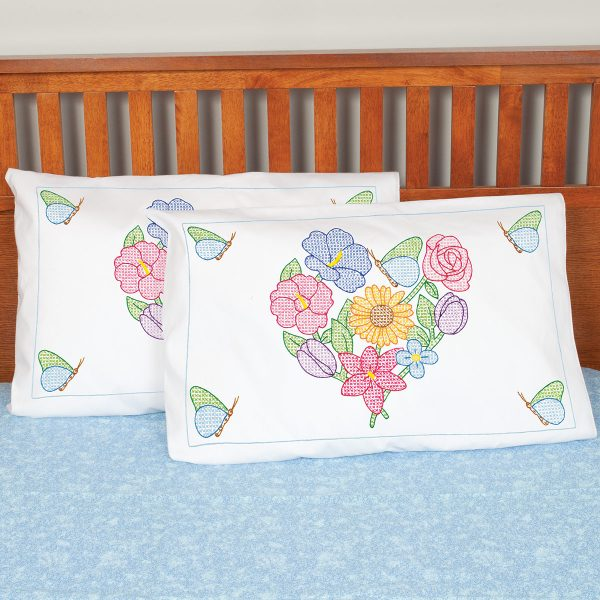 product id 1685506 Flowers & Heart Pillowcase Shams