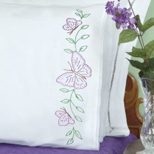 product id 1800307 Butterflies Lace Edge Pillowcases