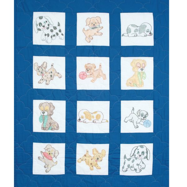 product id 30024 Puppies Nursery Quilt Blocks