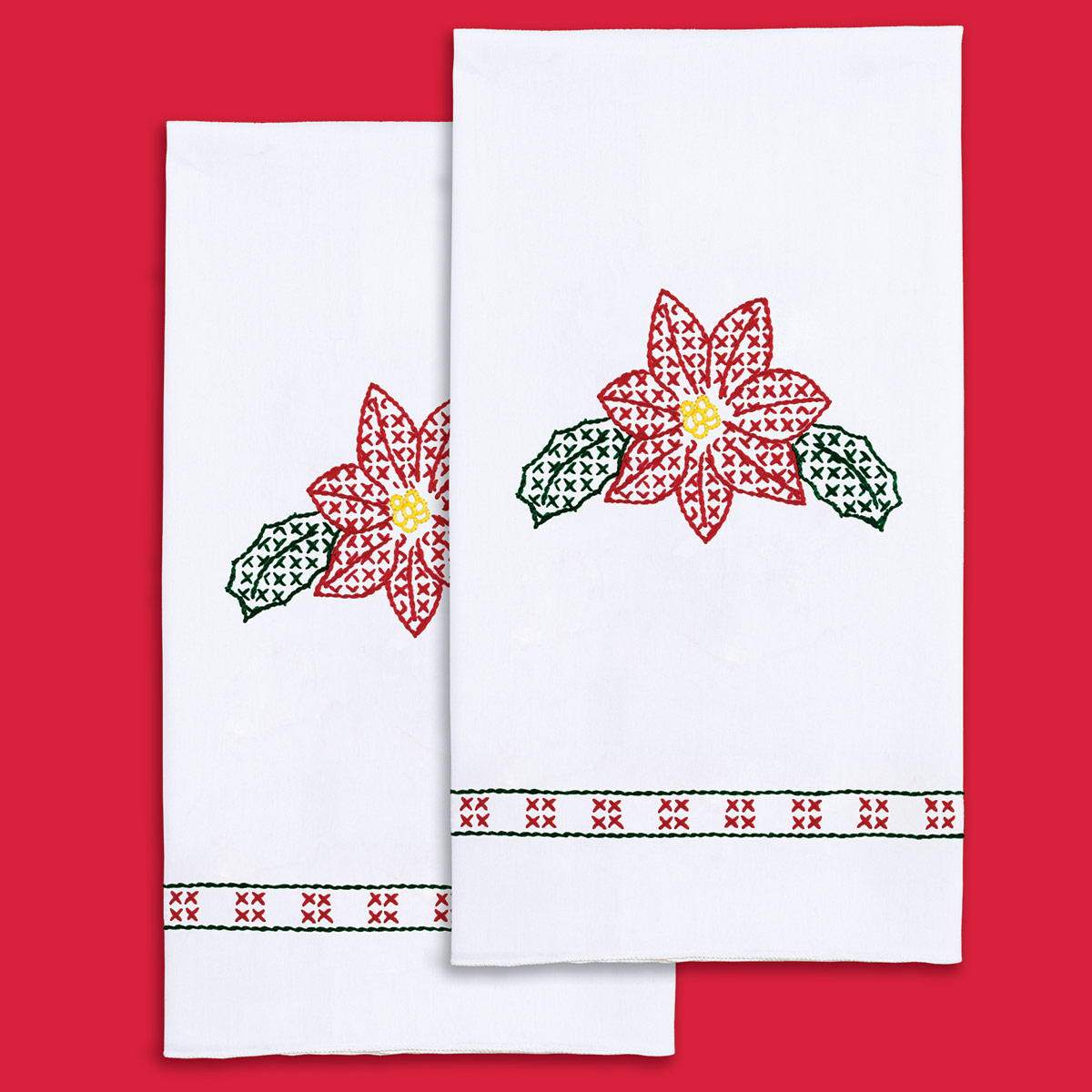 product id 320642 Poinsettia Hand Towels