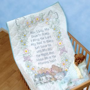 Now I Lay Me Down to Sleep Crib Quilt Top
