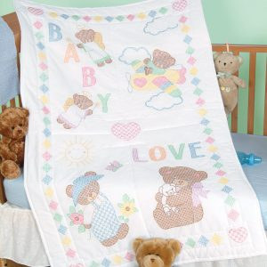 Baby Love Bears Crib Quilt Top
