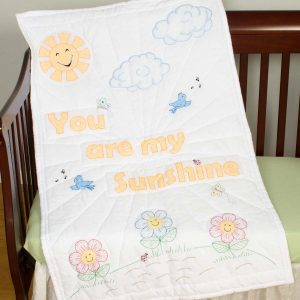 You are My Sunshine Crib Quilt Top