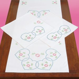 Starburst of Hearts Scarf & Doily Set