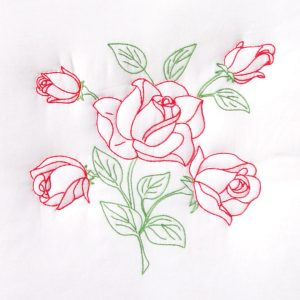 long stemmed rose quilt block