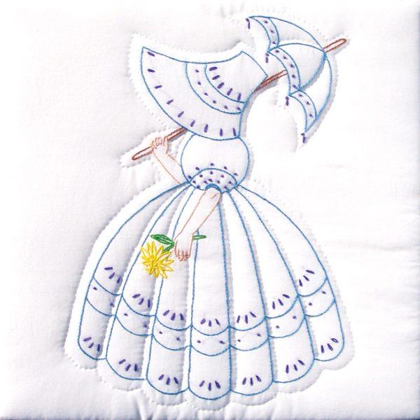 parasol lady quilt block