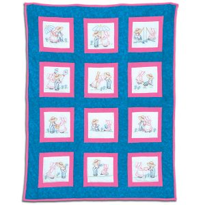 Sunbonnet Sue and Sam 9 inch Theme Quilt Blocks