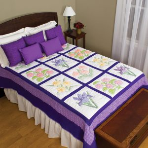 product id 74112 flowers sampler quilt