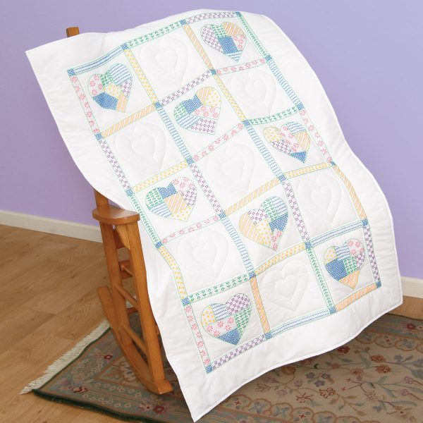 product id 940462 Patchwork Hearts Lap Quilt Top